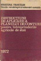 Instructiuni de aplicare a planului de conturi pentru intreprinderile agricole de stat