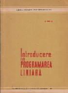 Introducere in programarea liniara