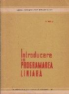 Introducere in programarea liniara