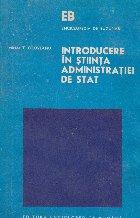 Introducere in stiinta administratiei de stat