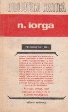 N. Iorga interpretat de...