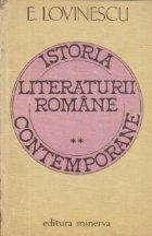 Istoria literaturii romane contemporane, Volumul al II-lea