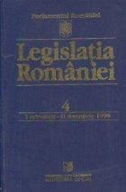 Legislatia Romaniei, 4, 1 octombrie - 31 decembrie 1998