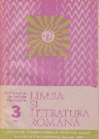 Limba si literatura romana, Nr. 3/1985 - Revista trimestriala pentru elevi