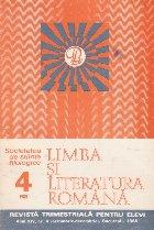 Limba si literatura romana, Nr. 4/1985 - Revista trimestriala pentru elevi