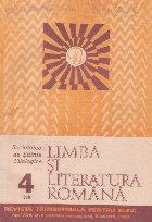 Limba si literatura romana, Nr. 4/1988 - Revista trimestriala pentru elevi