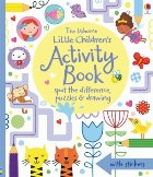 Little children's activity book: spot the difference, puzzles and drawing