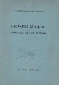 Lucrarile stiintifice ale Institutului de Mine Petrosani