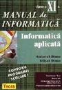 Manual de informatica pentru clasa a XI-a. Informatica aplicata