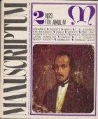 Manuscriptum 2/1973 (11) Anul IV