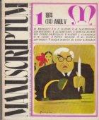 Manuscriptum 1/1974 (14) Anul V