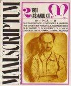 Manuscriptum, Nr. 2/1981