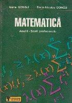 Matematica Anul Scoli profesionale