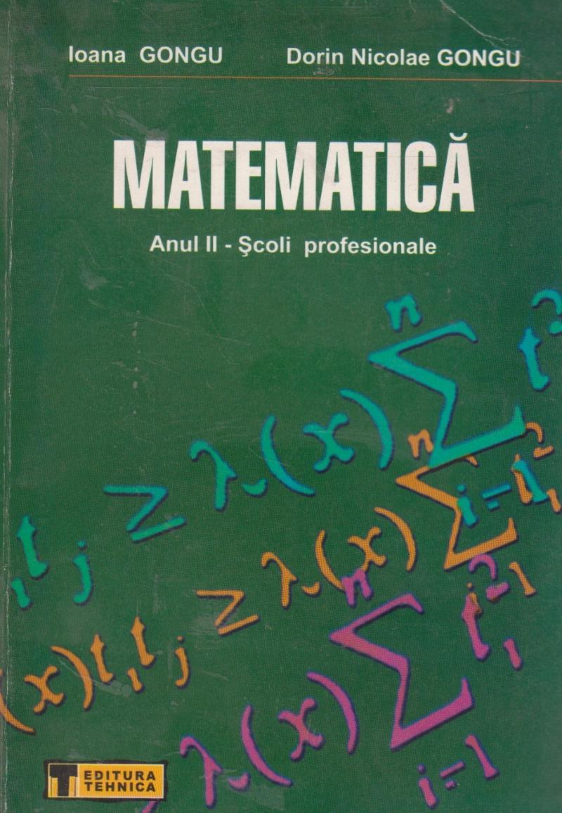 Matematica, Anul II - Scoli profesionale