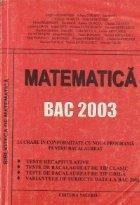 Matematica - BAC 2003