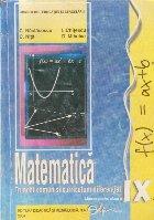 Matematica - Trunchi comun si curriculum diferentiat, Manual pentru clasa a IX-a