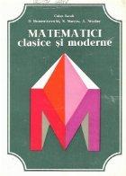Matematici clasice si moderne, Volumul al IV-lea
