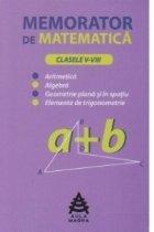 Memorator de matematica (clasele V-VIII)