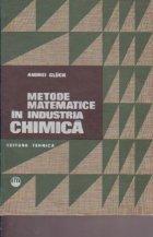 Metode matematice in industria chimica - Elemente de optimizare