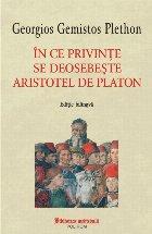 În ce privințe se deosebește Aristotel de Platon