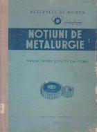 Notiuni de metalurgie - Manual pentru scoli de calificare
