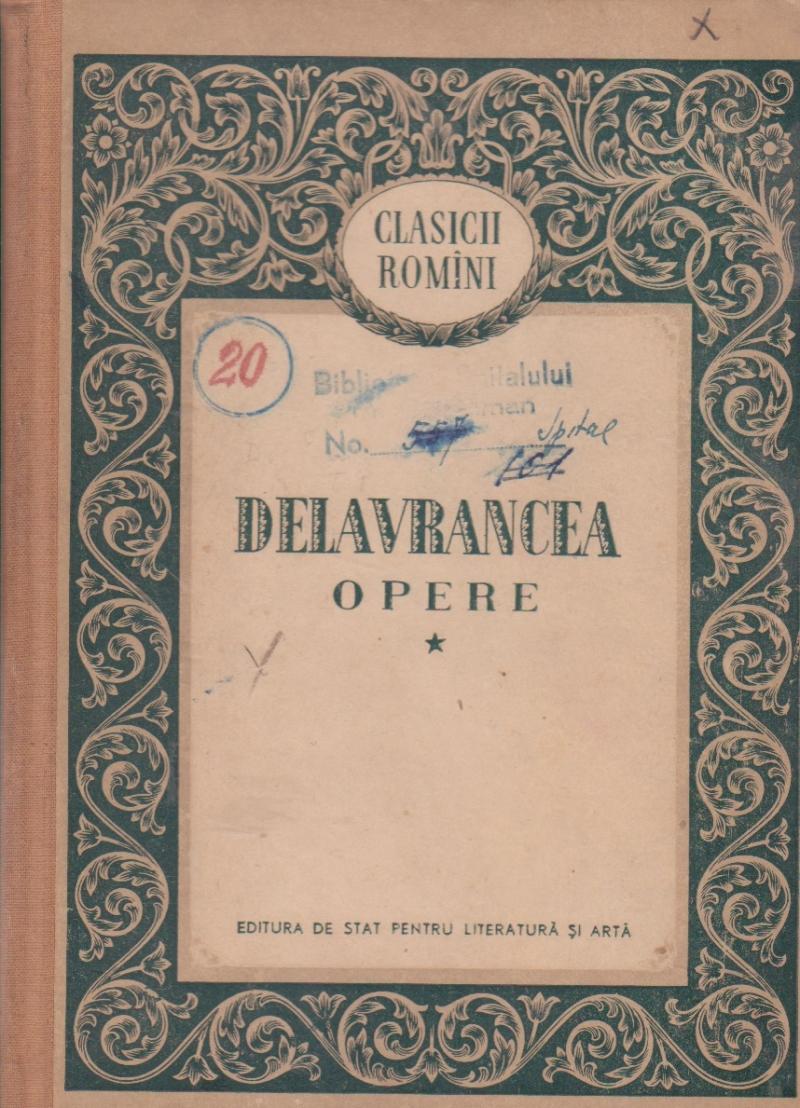 Opere I (Delavrancea)