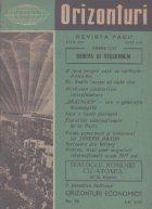 Orizonturi - Revista Pacii, Iulie 1959