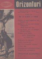 Orizonturi - Revista Pacii, August-Septembrie 1960