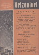Orizonturi - Revista Pacii, Ianuarie 1962