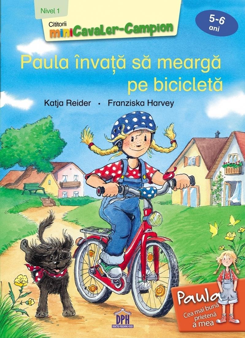 Paula invata sa mearga pe bicicleta