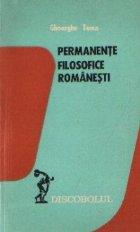 Permanente filosofice romanesti - Studii si eseuri