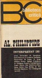 Al. Philippide interpretat de...