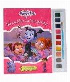 Sa pictam cu Vampirina. Carte de colorat cu pensula si acuarele