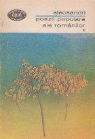 Poezii populare ale romanilor, Volumul I