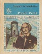 Poezii. Proza (Grigore Alexandrescu)