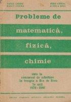 Probleme matematica fizica chimie date