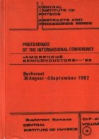 Proceedings of the International Conference Amorphous Semiconductors - 82