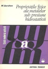 Proprietatile fizice ale metalelor sub presiune hidrostatica