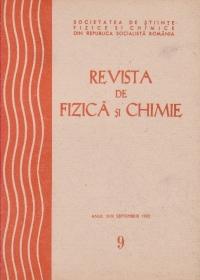 Revista de Fizica si Chimie, Septembrie 1982