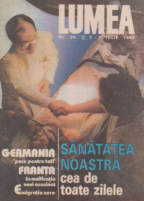 Revista Lumea, nr. 26/1993