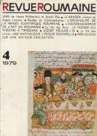 Revue Roumaine, 4/1979