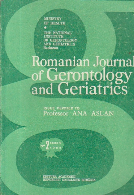 Romanian Journal of Gerontology and Geriatrics, No 2, Tome 9/1988