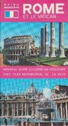 Rome Et Le Vatican - Nouveau Guide a Couleurs Avec Lan Monumental De La Ville