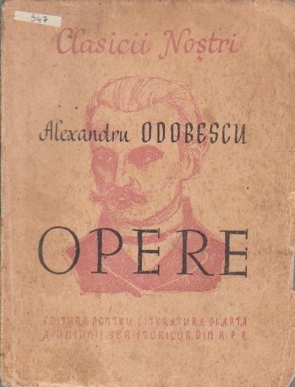 Scrieri Alese (Al. I. Odobescu - Editie 1949)