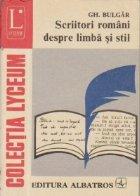 Scriitori romani despre limba si stil