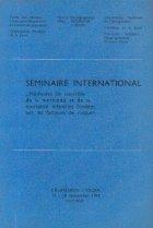 Seminaire International - Methodes de controle de la morbidite et de la mortalite infantiles fondees sur les facteurs de risque