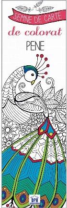 Semne de carte de colorat - Pene