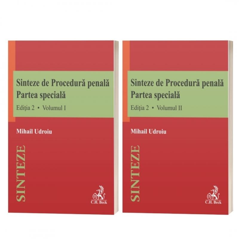 Sinteze de Procedura penala. Partea speciala (vol. I + vol. II). Editia 2