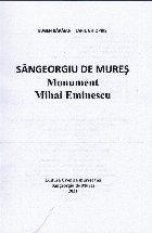 Sângeorgiu de Mureş : monument Mihai Eminescu