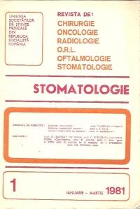 Stomatologia - Revista a societatii de stomatologie (1981/ianuarie-martie)